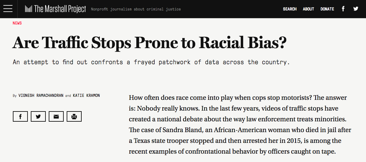 Are Traffic Stops Prone to Racial Bias?